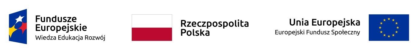 Loga Fundusze europejskie - wiedza, edukacja, rozwój, Uniwersytet Warszawski oraz Europejski Fundusz Społeczny